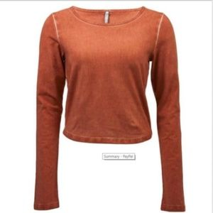 {Final Sale} NWT BKE Large Chutney Cropped Top